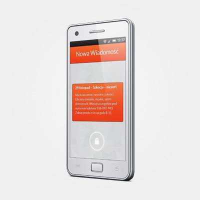 Powiadomienia SMS o dostawach odzieży
